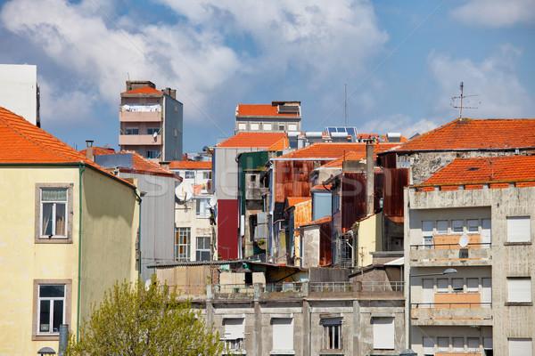 Residencial arquitectura casas apartamento bloques Foto stock © rognar