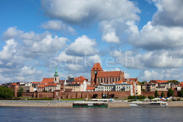 City of Torun Skyline in Poland Stock photo © rognar