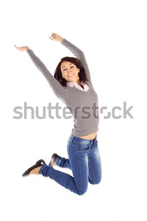 Excited Woman Jump into the Air Stock photo © rognar