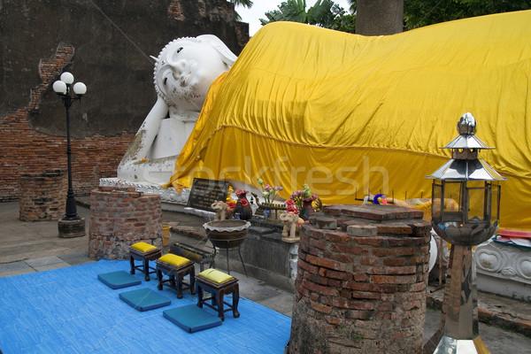Buddha tempel Thailand vrede standbeeld asia Stockfoto © rognar