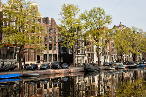 Amsterdam Houses by the Singel Canal Stock photo © rognar