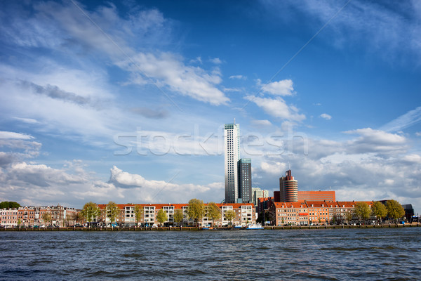 Rotterdam Skyline in Netherlands Stock photo © rognar