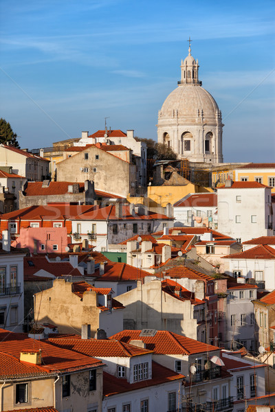 City of Lisbon in Portugal at Sunset Stock photo © rognar