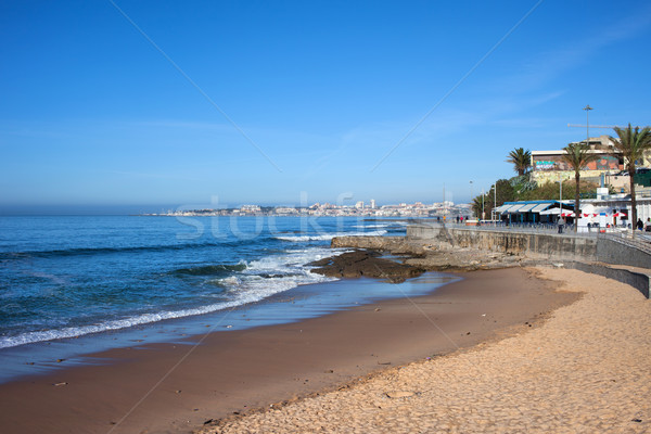 Beach and Atlantic Ocean in Estoril Stock photo © rognar
