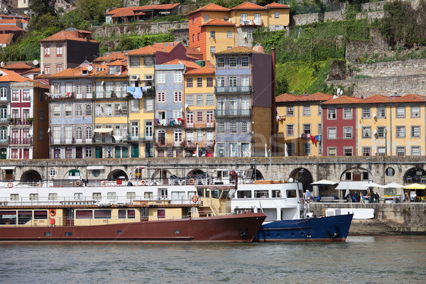 Houses and Passenger Boats in Porto Stock photo © rognar
