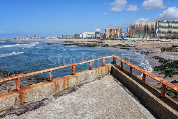 Matosinhos City Skyline in Portugal Stock photo © rognar