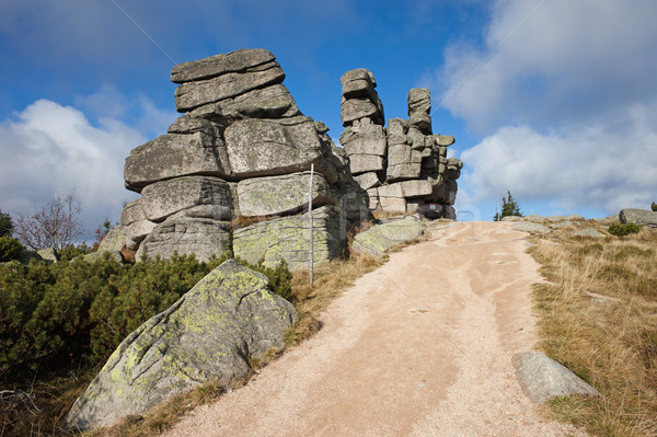 Three Piglets Rocks in Karkonosze Mountains Stock photo © rognar