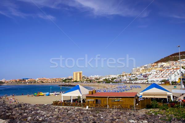 Plaj tenerife manzaralı başvurmak kasaba Stok fotoğraf © rognar