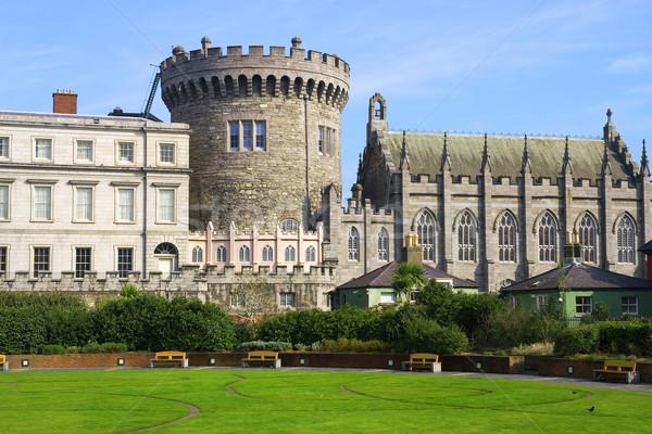 Dublin kastély Írország épület város fal Stock fotó © rognar