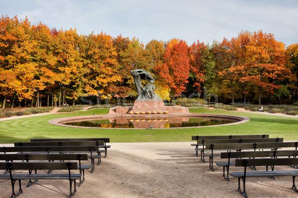 公園 ワルシャワ 秋 風景 ロイヤル ポーランド ストックフォト © rognar