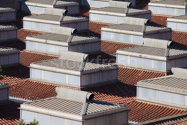 Skylights with Ventilation on a Building Roof Stock photo © rognar