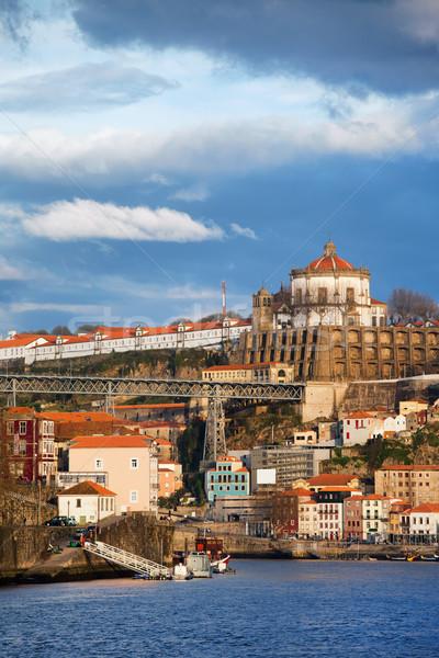 Cityscape Portogallo acqua città edifici architettura Foto d'archivio © rognar