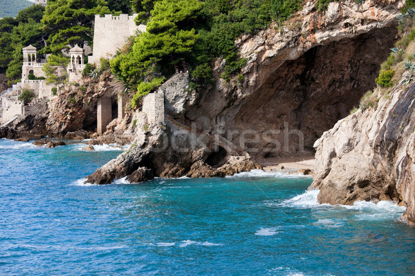 Cave on the Adriatic Sea Coastline Stock photo © rognar