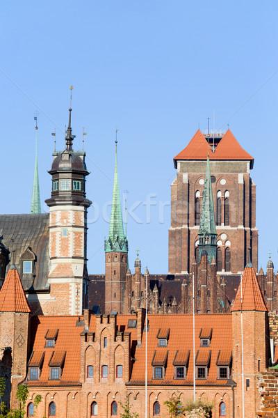 Gdansk óváros történelmi építészet város városi építészet Stock fotó © rognar