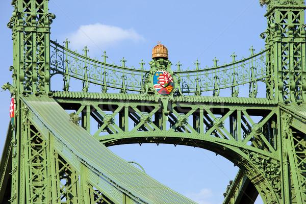 Liberty Bridge Closeup in Hungary Stock photo © rognar