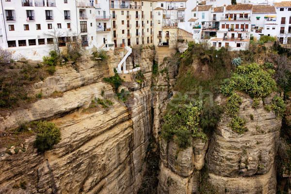 Houses on a Rock in Ronda Stock photo © rognar