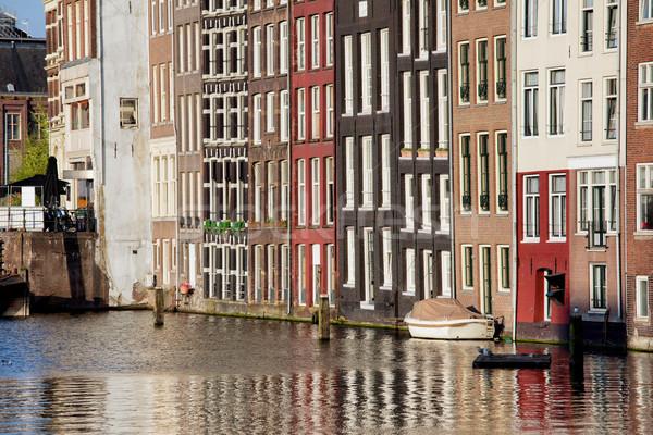 Stok fotoğraf: Evler · Amsterdam · su · şehir