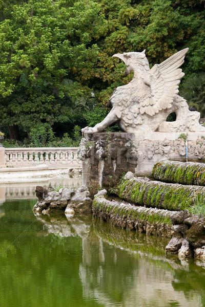 грифон Барселона статуя искусства каменные Сток-фото © rognar