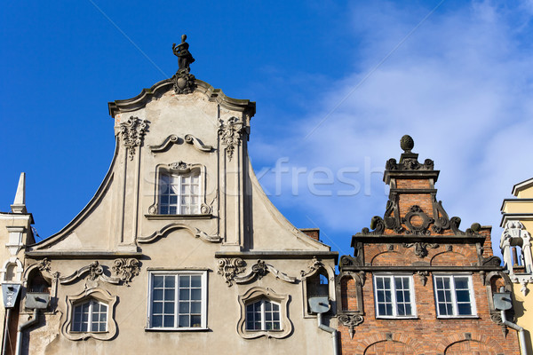 Apartment Houses Ornate Top Stock photo © rognar