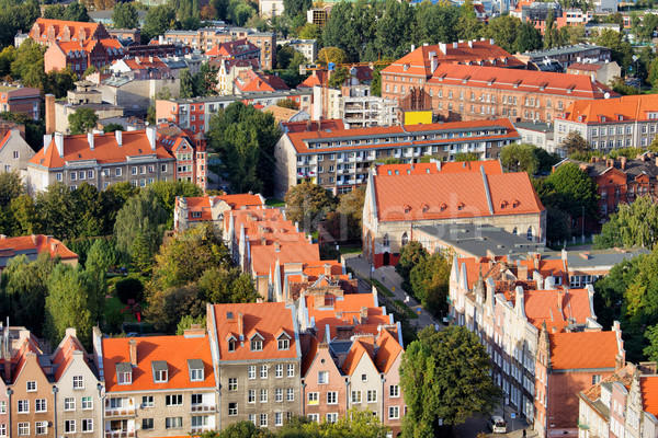 Ville gdansk cityscape Pologne bâtiment Photo stock © rognar