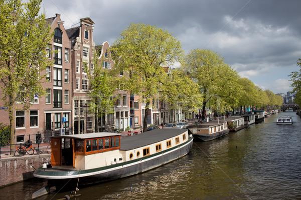 Amsterdam kanal daire binalar şehir Stok fotoğraf © rognar