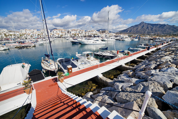 Puerto Banus Marina on Costa del Sol in Spain Stock photo © rognar