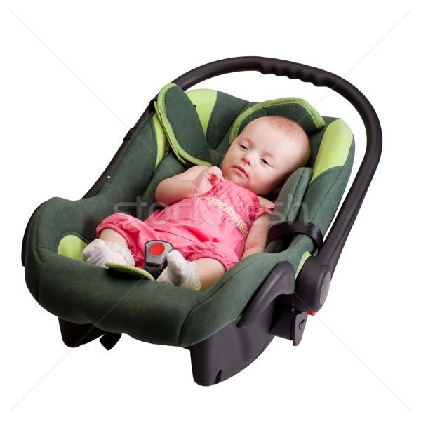 Baby Girl Toddler in Car Seat Stock photo © rognar