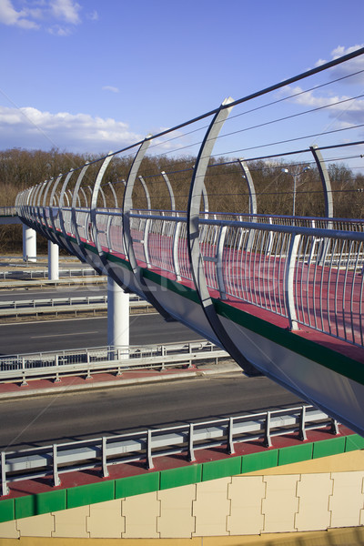 Stock photo: Footbridge on Motorway