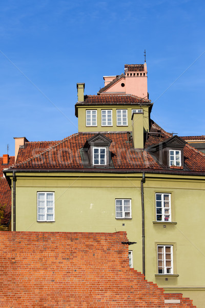House in the Old Town of Warsaw Stock photo © rognar