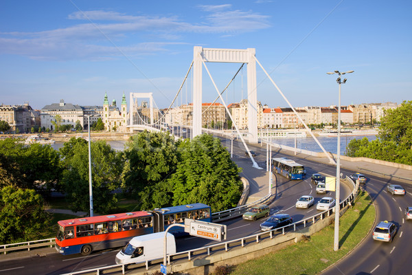 Street Traffic in Budapest Stock photo © rognar