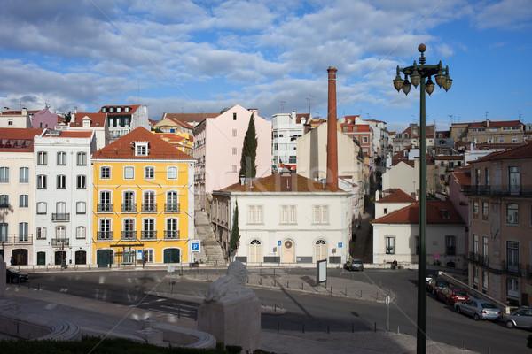 Stad Lissabon Portugal gebouwen stedelijke skyline Stockfoto © rognar