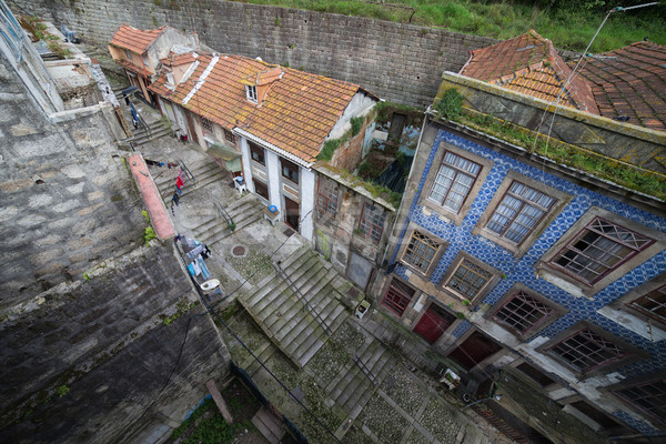 Stockfoto: Oude · stad · Portugal · boven · traditioneel · huizen
