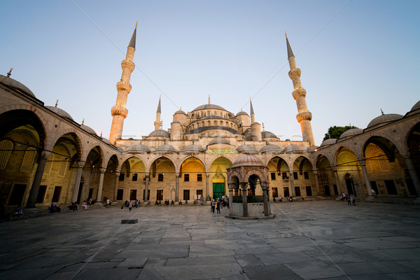 Blue Mosque at Dusk Stock photo © rognar