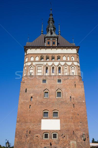 Carcere torre danzica storico punto di riferimento costruzione Foto d'archivio © rognar