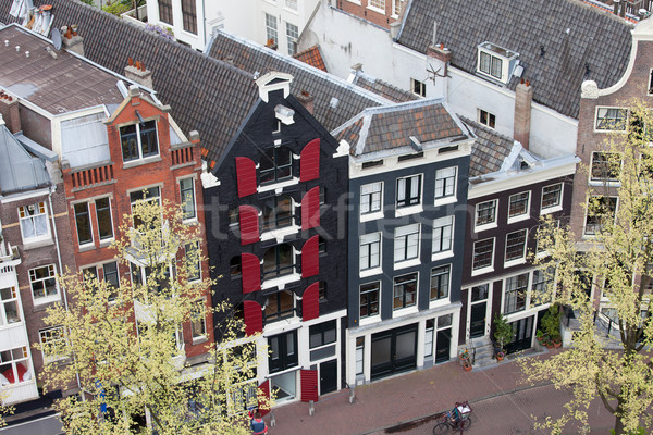Houses in Amsterdam from Above Stock photo © rognar