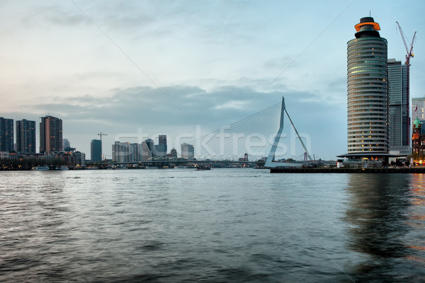 River View of Rotterdam in Netherlands Stock photo © rognar