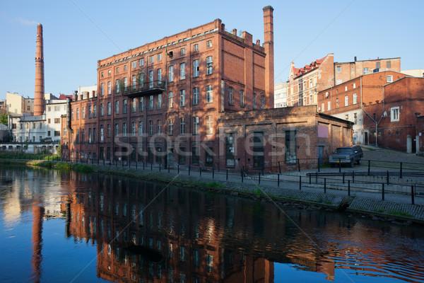 Stad Polen molen eiland oude Stockfoto © rognar