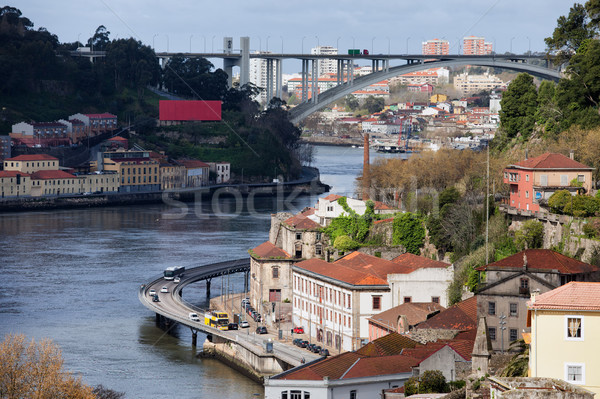Porto Urban Scenery Along Douro River Stock photo © rognar