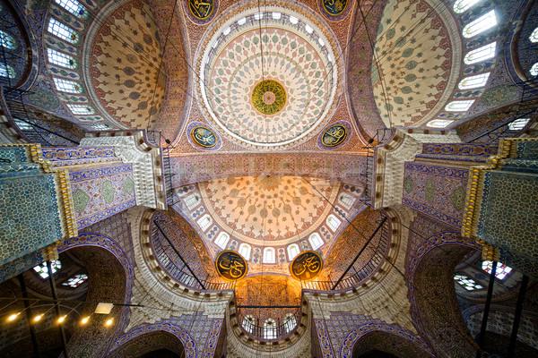 Nouvelle mosquée plafond impressionnant intérieur architecture Photo stock © rognar