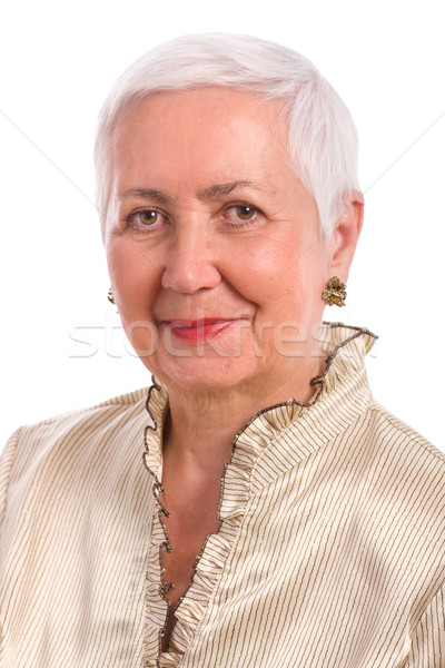 Cheerful Senior Woman Portrait Stock photo © rognar
