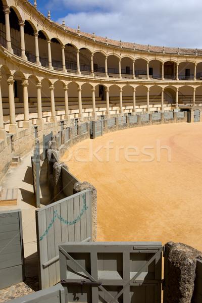 Bullfighting Arena in Ronda Stock photo © rognar