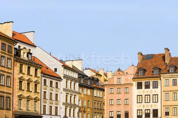 旧市街 住宅 ワルシャワ アパート 歴史的な建物 市 ストックフォト © rognar
