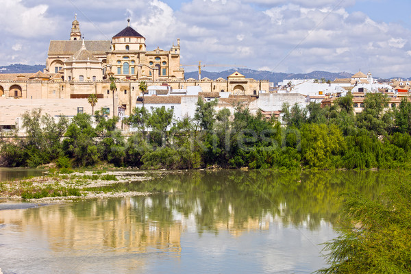 Mezquita Cathedral by the River in Cordoba Stock photo © rognar