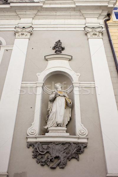 St Michael Church Statue in Budapest Stock photo © rognar