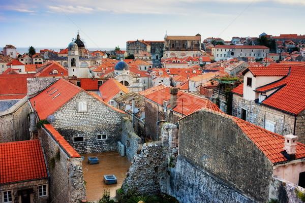 旧市街 ドゥブロブニク 歴史的な建物 クロアチア 家 市 ストックフォト © rognar