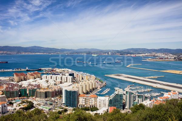 Gibraltar miasta powyżej Hiszpania horyzoncie domu Zdjęcia stock © rognar