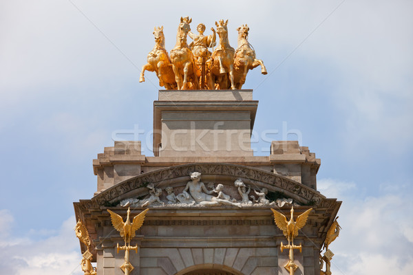 Quadriga de l'Aurora in Park Ciutadella in Barcelona Stock photo © rognar