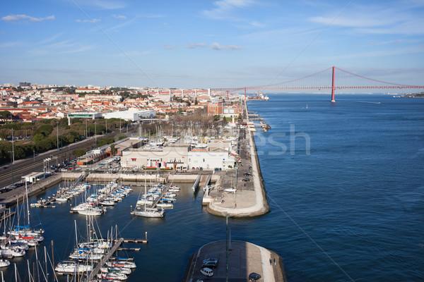 Lisbonne marina rivière Portugal ville quai Photo stock © rognar