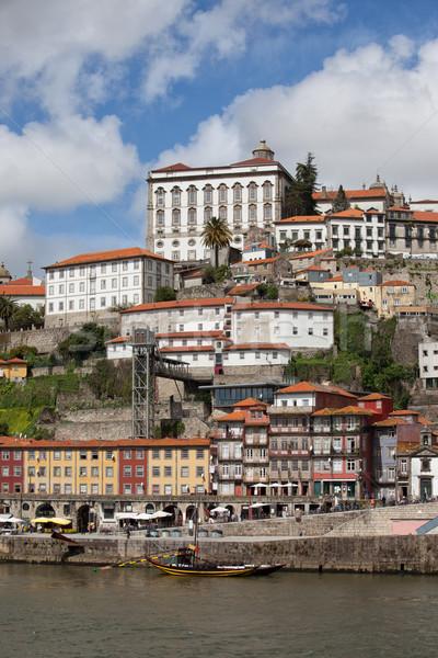 市 ポルトガル 歴史的な建物 建物 川 アーキテクチャ ストックフォト © rognar