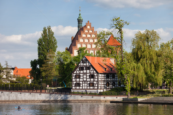 White Granary and Cathedral in Bydgoszcz Stock photo © rognar